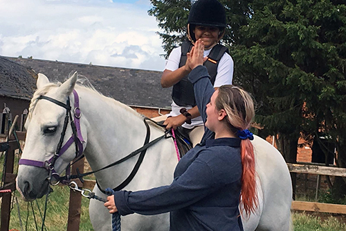 Games on Horseback - handy pony - at the Ride High Equestrian Centre Milton Keynes